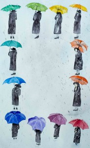 Unter dem Regenschirm (verkauft)