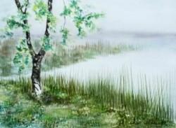 Am Ufer (gerahmt; 60x50 cm, Fr. 350.-)