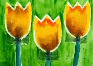 3 Tulpen ( (gerahmt; 60x50 cm, Fr. 350.-)