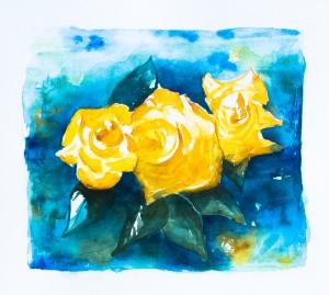 3 gelbe Rosen